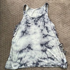 NWOT tie dye tank with lace up sides